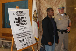 Sergeant participating in Disaster Emergency Exercise
