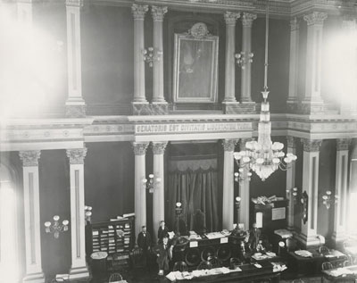 California State Capitol Senate Chamber between 1900 and 1906