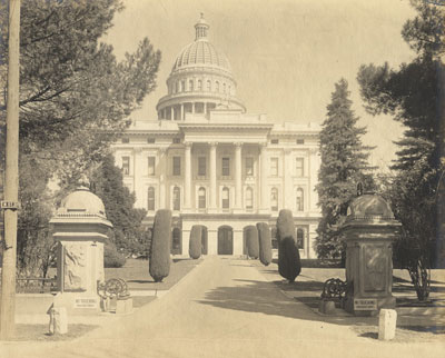South side view of the State Capitol circa 1920s
