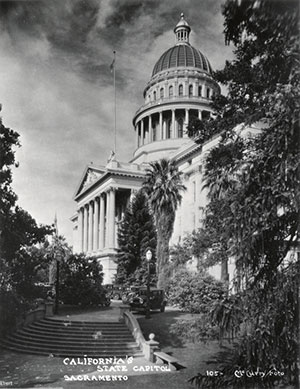 Southwest view of the State Capitol circa 1920s