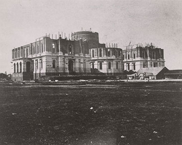 'State House' under construction circa 1867